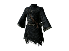 black hollow mage robe